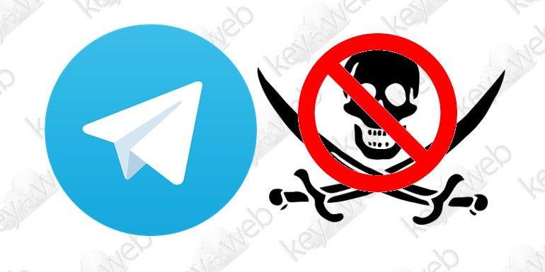 Telegram blocca i canali sui contenuti piratati