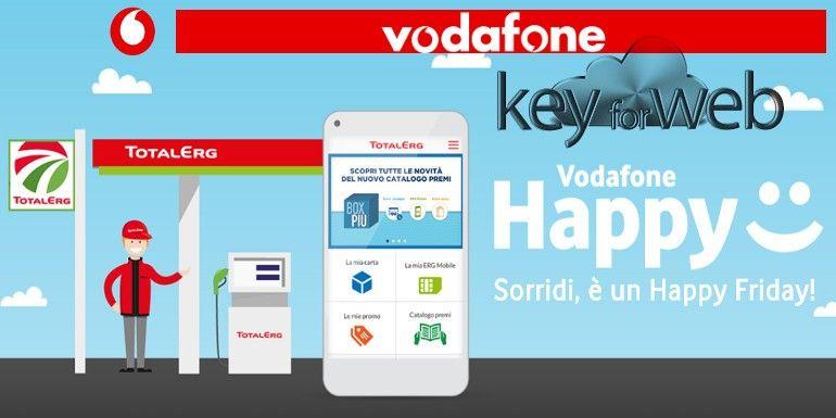 Vodafone Happy Friday 3 novembre 2017: sconto TotalErg