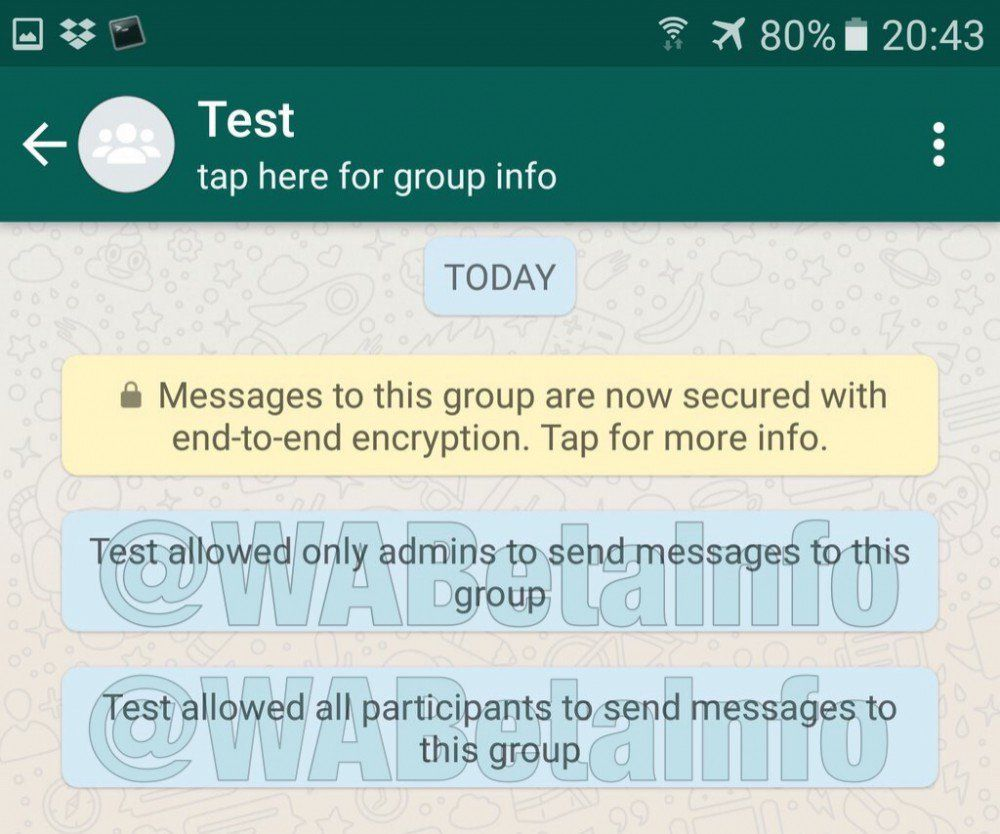 whatsapp gruppi android
