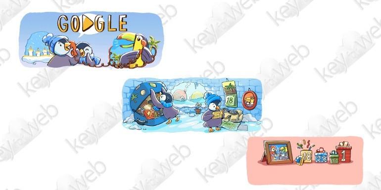 Google celebra le Feste con una serie di Doodle