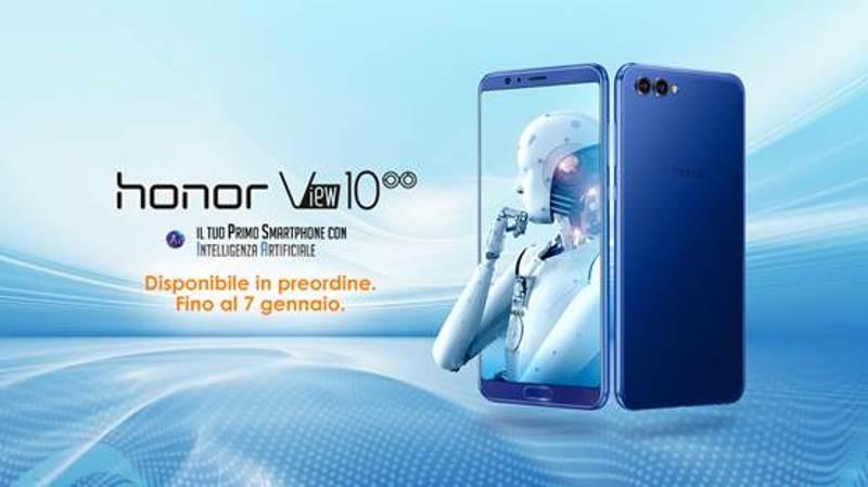 Honor View 10 gioca di anticipo: via alle prenotazioni a 499,90 euro