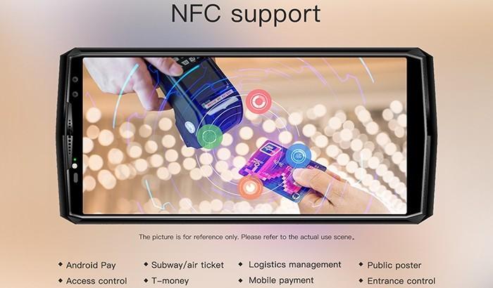 OUKITEL K10, la tecnologia NFC offre numerose funzionalità