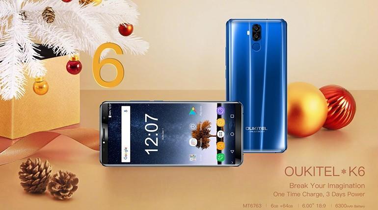 OUKITEL K6, inizia la vendita globale per il nuovo flagships cinese