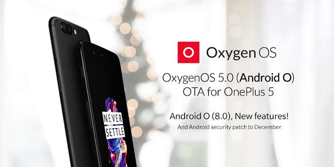 OnePlus 5, in rilascio Android 8.0 Oreo (OxygenOS 5.0)