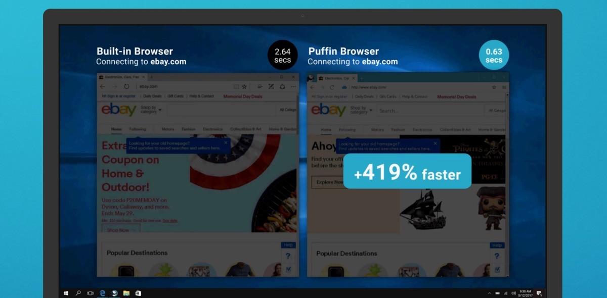 Puffin, il web browser rapido per iOS e Android arriva su Windows