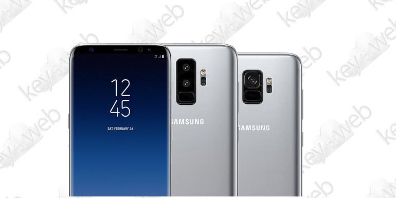 Samsung Galaxy S9 e S9+ svelati in nuovi render