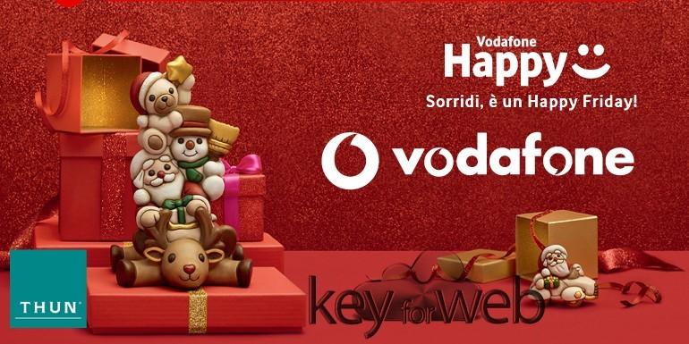 Vodafone Happy Friday 1 dicembre 2017: sconto sugli acquisti Thun