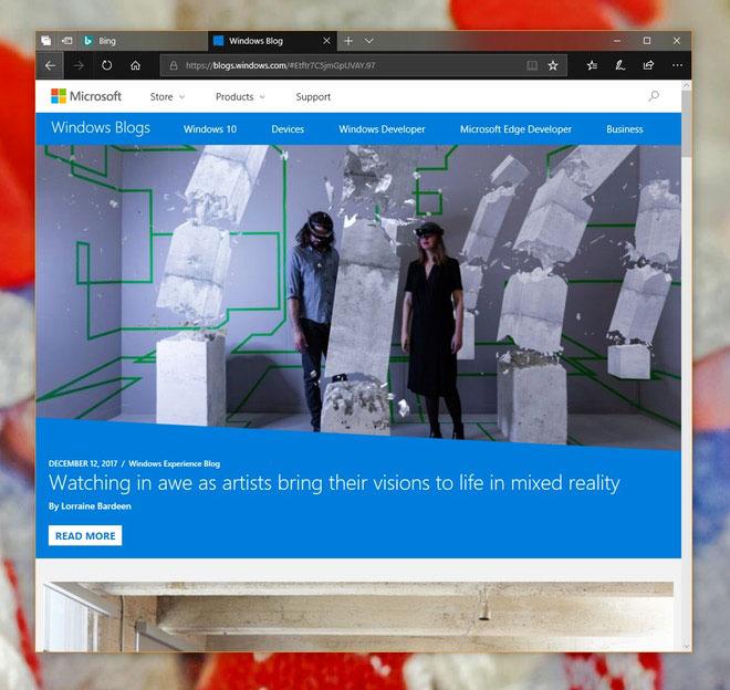 Miglioramenti Edge su Windows 10 Build 17063