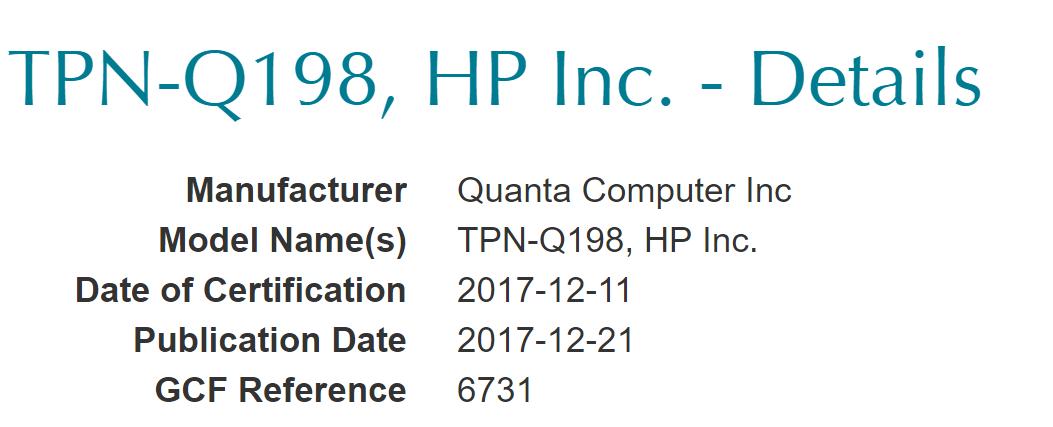 HP Envy X2 Windows on ARM passa la certificazione FCC