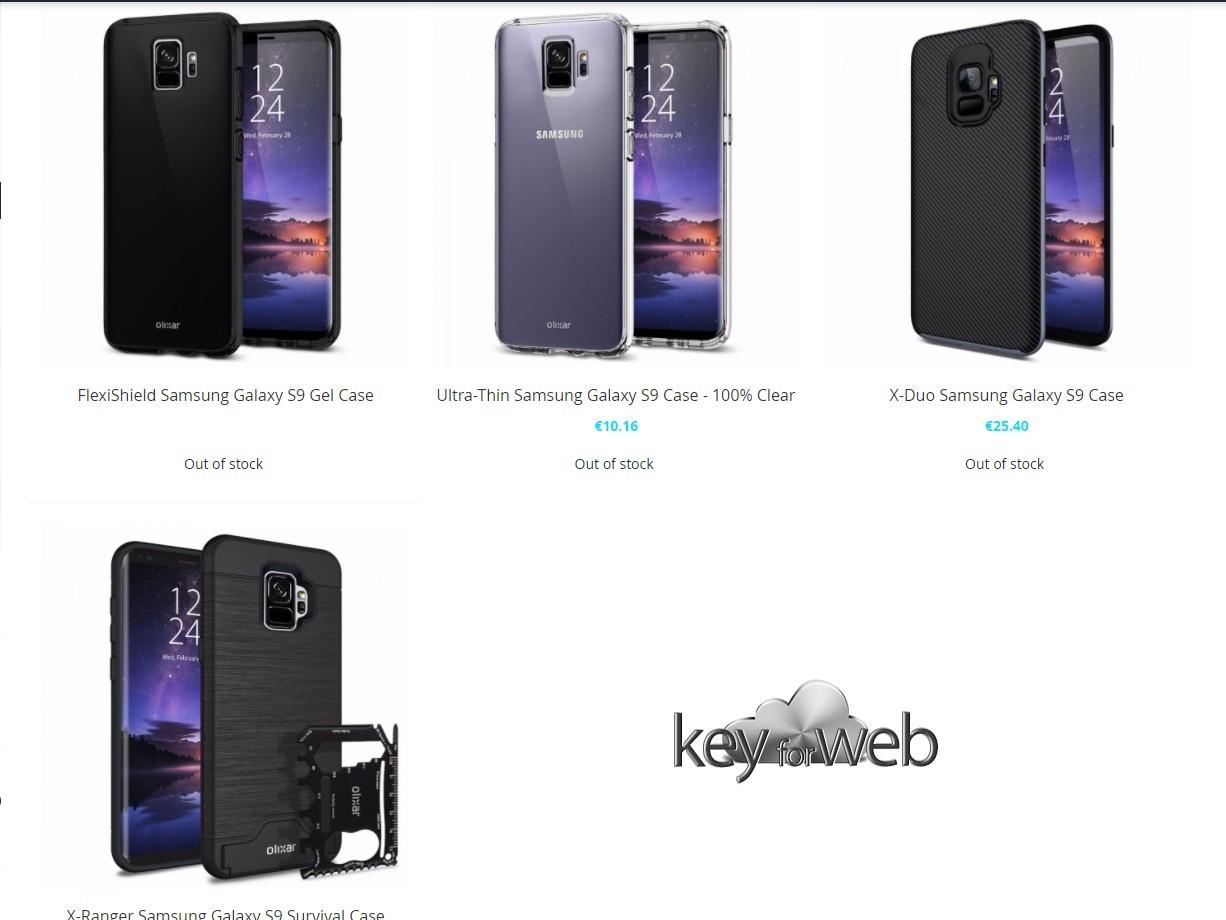 Samsung Galaxy S9 svelato anche da Olixar con le sue cover ufficiali