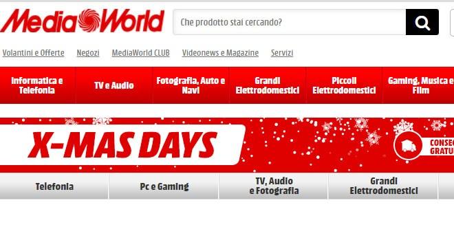X Days MediaWorld, ecco le offerte natalizie fino al 21 dicembre
