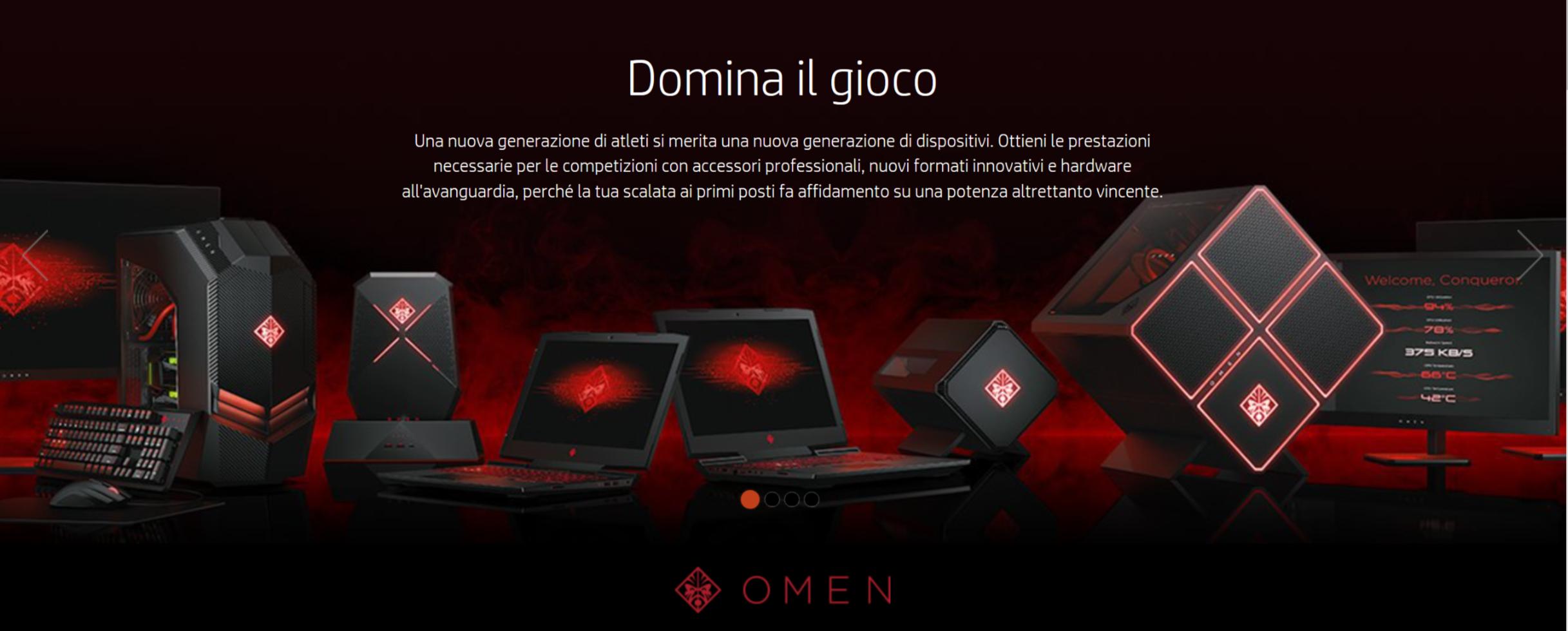 HP aggiorna la gamma PC Omen dedicata al Gaming