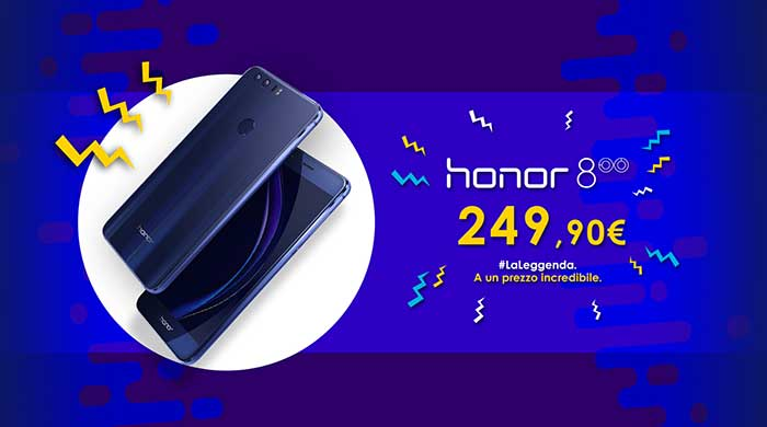 Offertissima per Honor 8, ora acquistabile ad un prezzo incredibile!