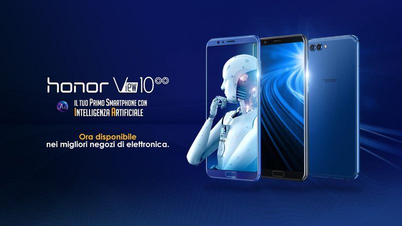 Honor View 10 disponibile in Italia a 499,90 euro