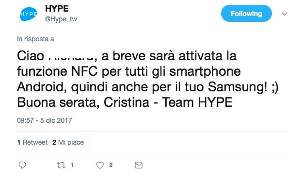 Hype, pagamenti nfc per android