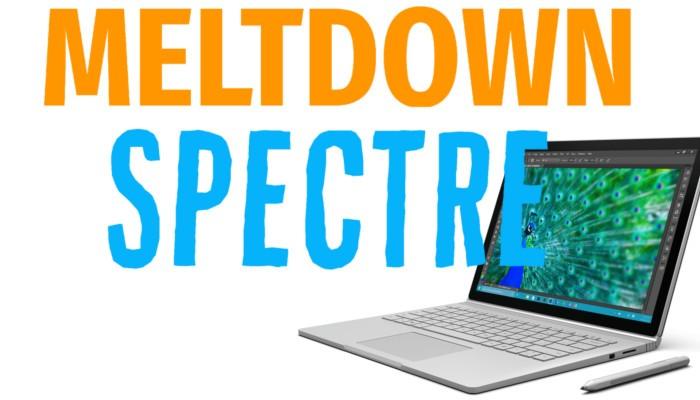 Meltdown e Spectre, in distribuzione il nuovo firmware per Surface