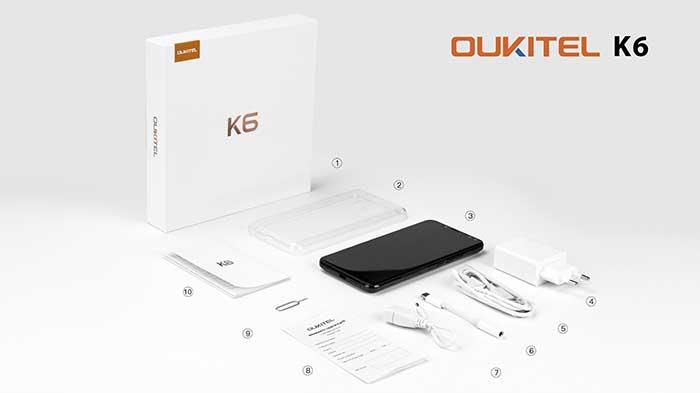 OUKITEL K6, rilasciato ufficialmente il primo video unboxing