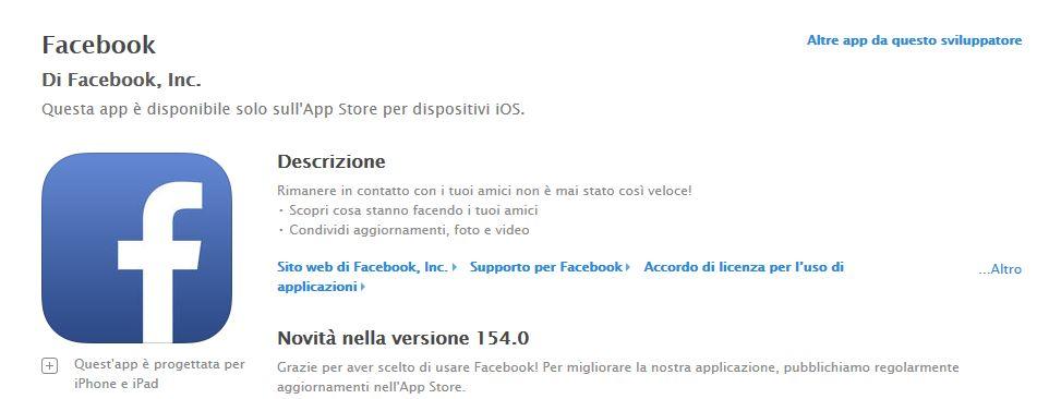 applicazione iOS
