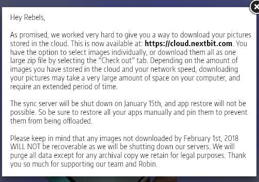 chiude Nextbit Robin Smart Saver
