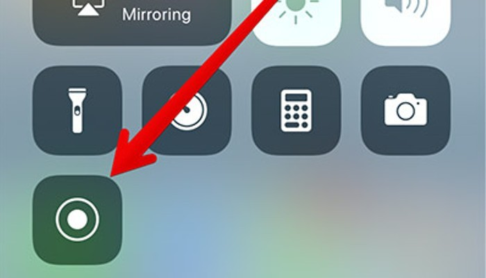 registrazione schermo iphone