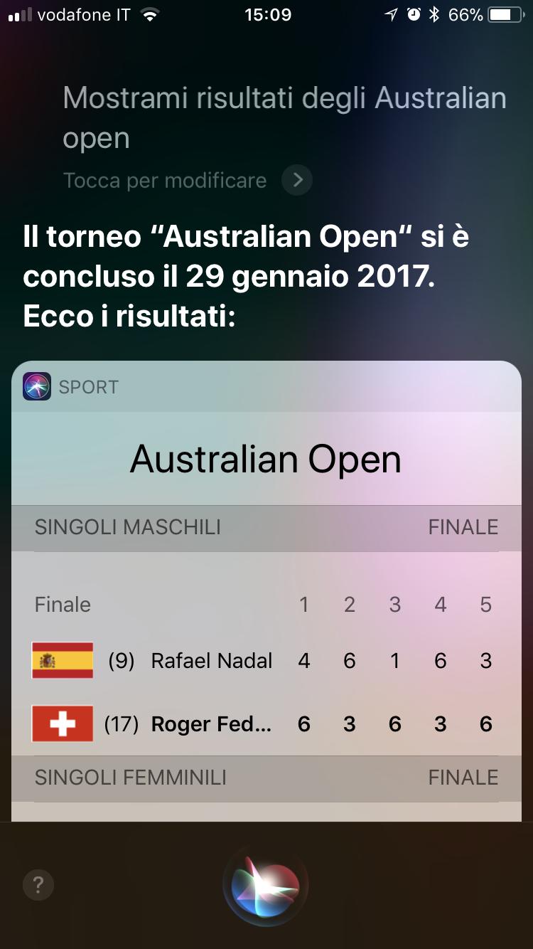 risultati tennis siri