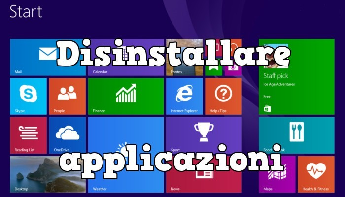 Come disinstallare un programma da Windows