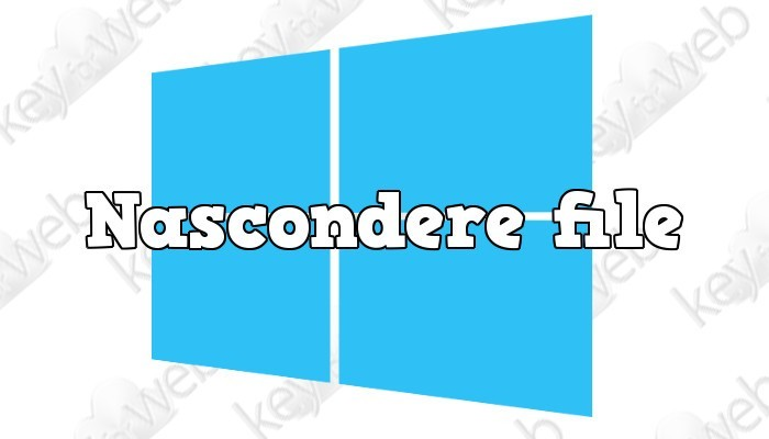 Come nascondere file su Windows senza programmi