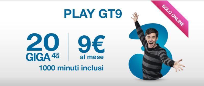 Passa a 3 con Play GT 9 e attivala gratis. Ecco come