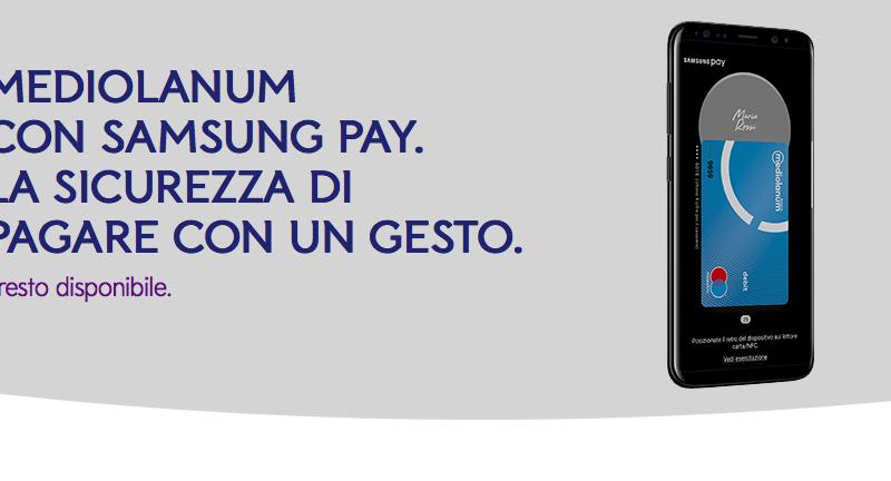 Mediolanum sarà uno dei primi partner di Samsung Pay in Italia