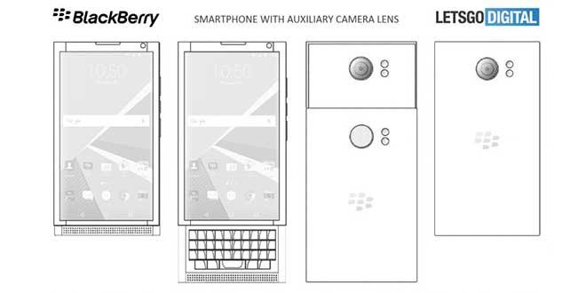 Smartphone BlackBerry, nuovo brevetto per design della fotocamera