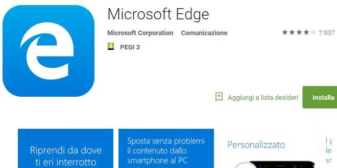 Microsoft Edge per Android, arriva la funzione browser predefinito