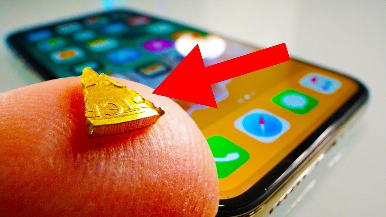 iPhone X in un curioso drop test contro delle pepite d'oro
