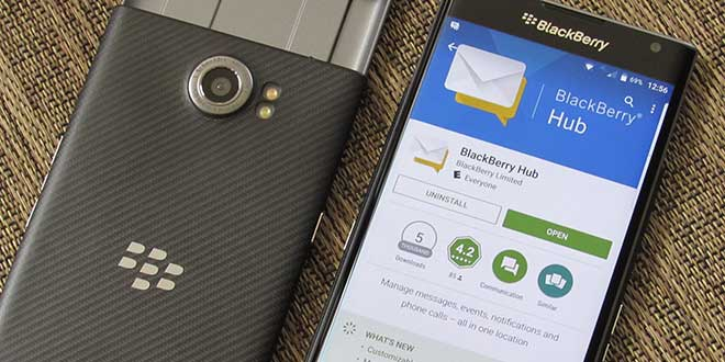 BlackBerry Hub, Calendario e Scheda Produttività si aggiornano sul Play Store