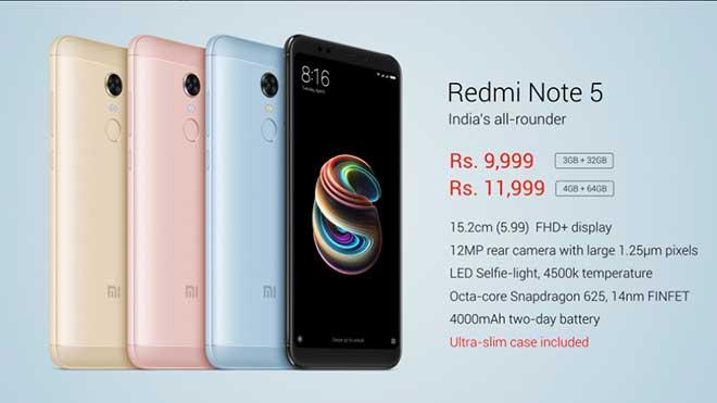 Xiaomi Redmi Note 5, praticamente nessuna novità