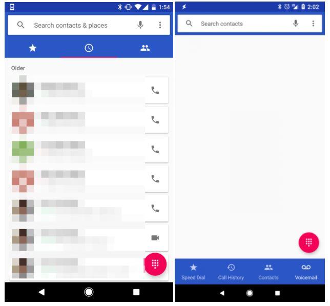 novità app Telefono di Google