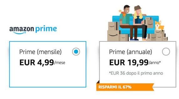 Amazon Prime mensile
