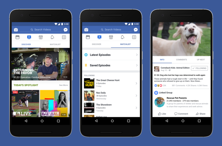 Facebook Watch potrebbe essere online questa estate