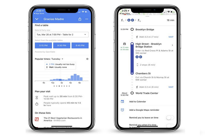 Google Maps su iPhone X