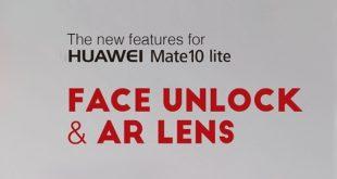 Huawei Mate 10 Lite: disponibile ufficialmente il Face Unlock