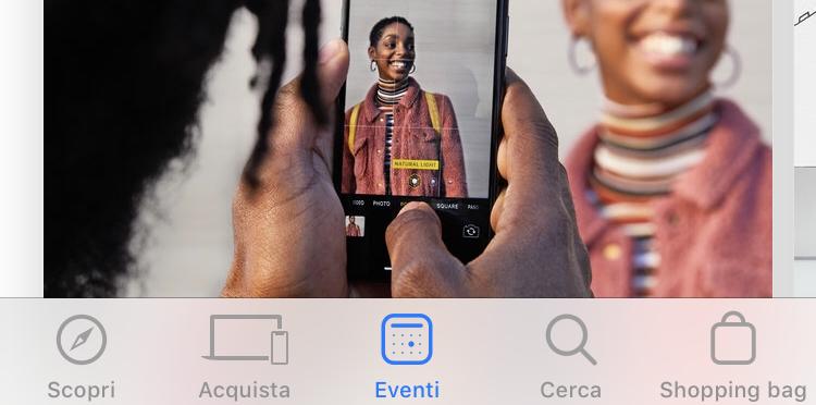 L'app Apple Store si aggiorna, arriva la sezione eventi