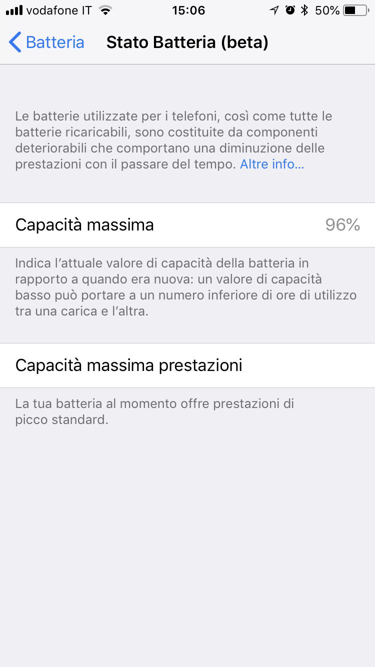 batteria su iOS 11.3