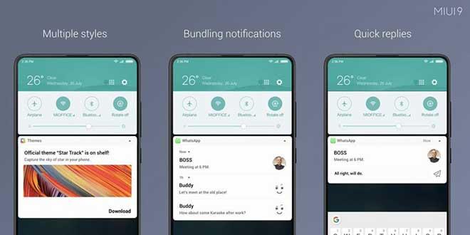 MIUI 9.5 Stable, ecco le nuove notifiche sugli smartphone Xiaomi