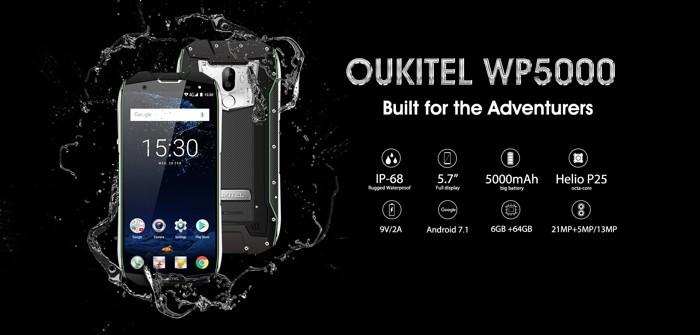 OUKITEL WP5000 si vanta della sua enorme batteria da 5200 mAh