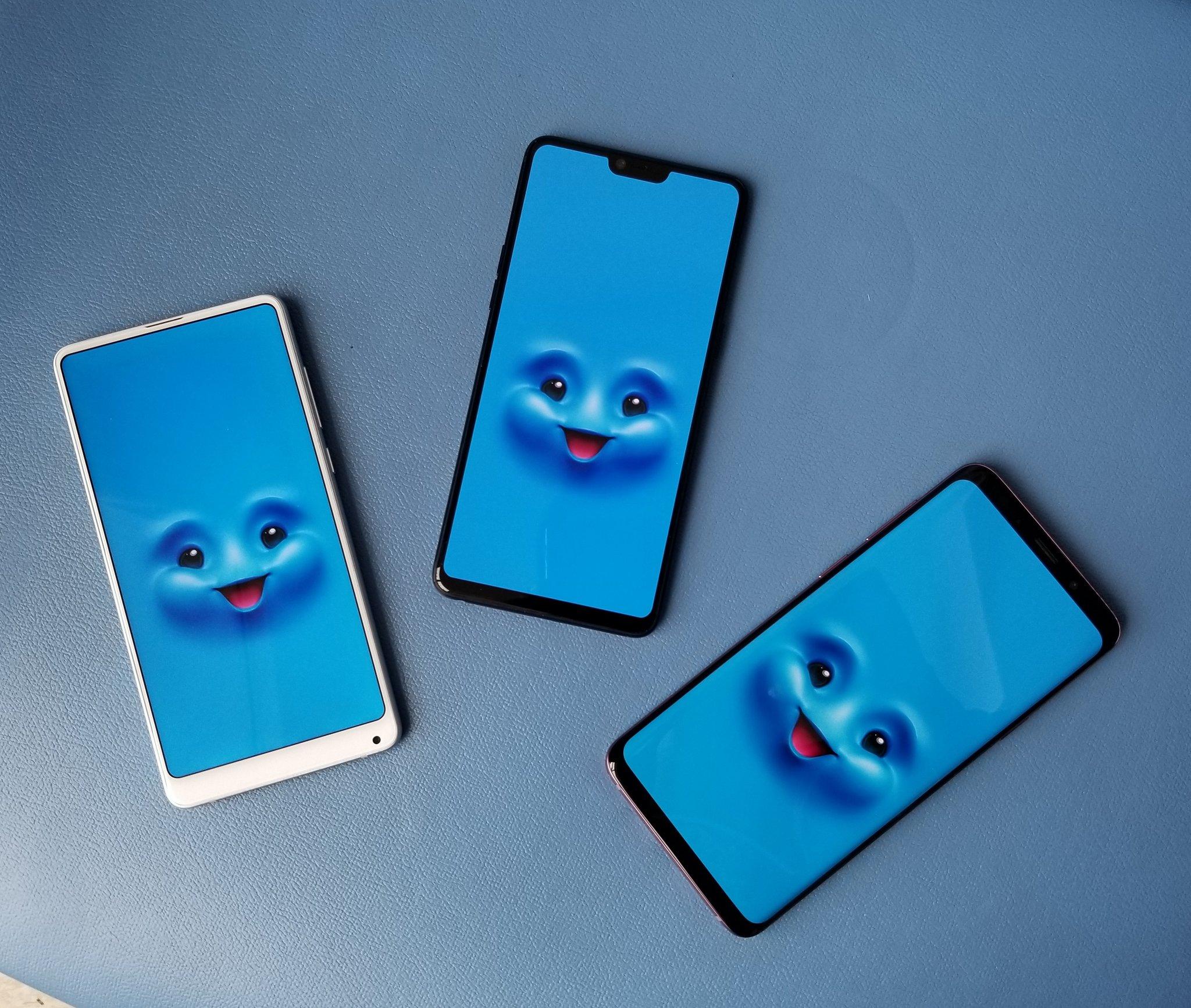 Xiaomi Mi MIX 2S, Oppo R15. Samsung Galaxy S9+