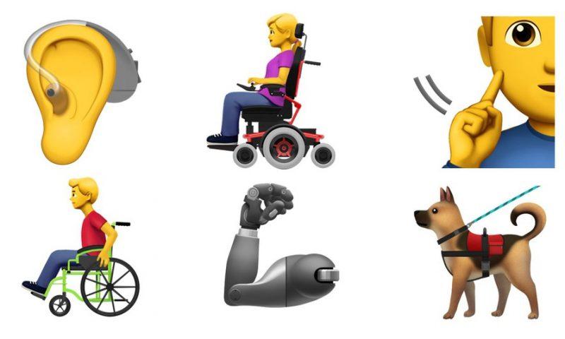 Apple introduce nuove emoji per rappresentare le disabilità