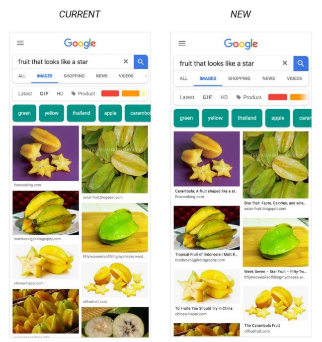nuovo Google Immagini