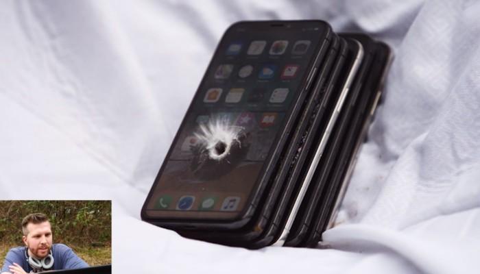 proiettile vs iPhone X