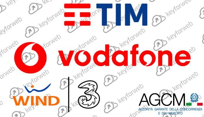 AGCM sanziona TIM, Wind, Tre e Vodafone
