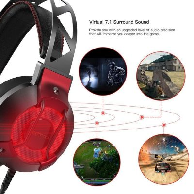 Dodocool Cuffie da Gioco Stereo USB con Audio Surround Virtuale 7.1