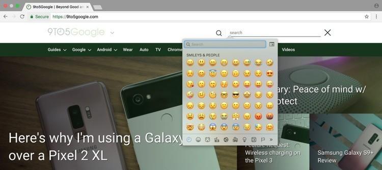 Google Chrome emoji